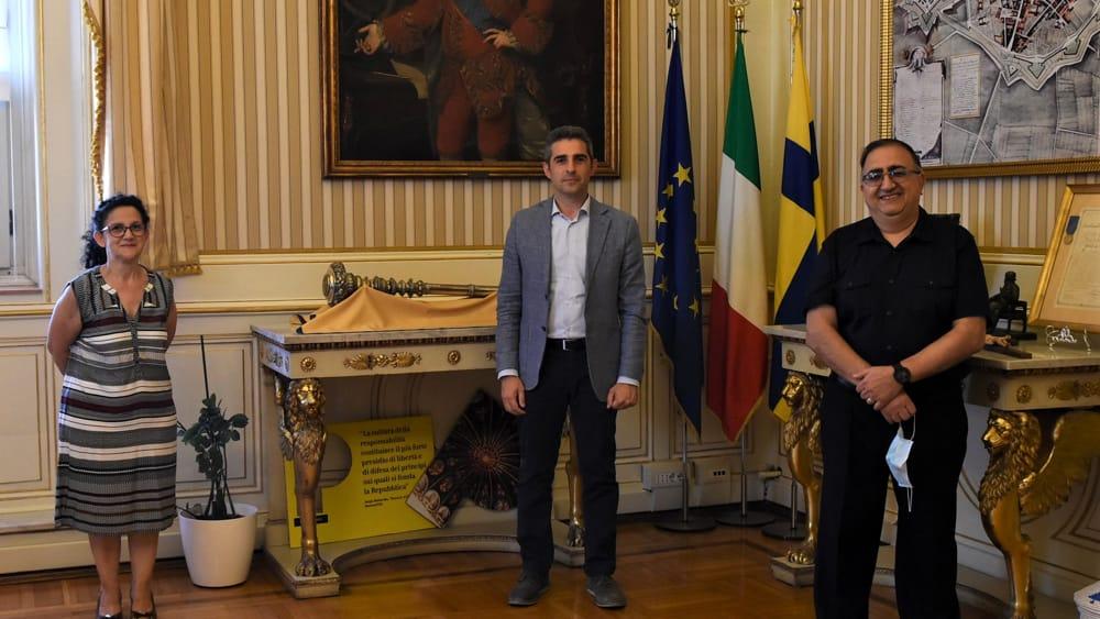 Il saluto del Pastore La Mantia al sindaco di Parma